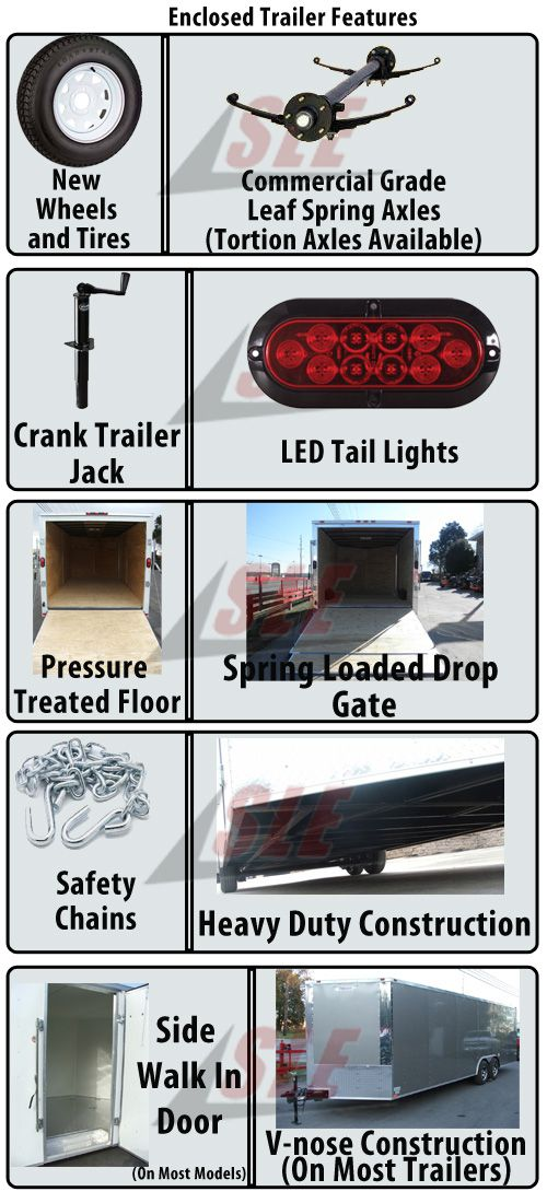Enclosed Trailer Specifications
