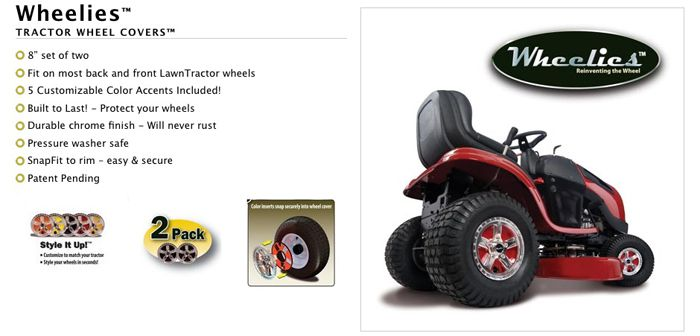 Lawn Garden Tractor Wheel Covers : Good vibrations wheelies lawn tractor wheel covers