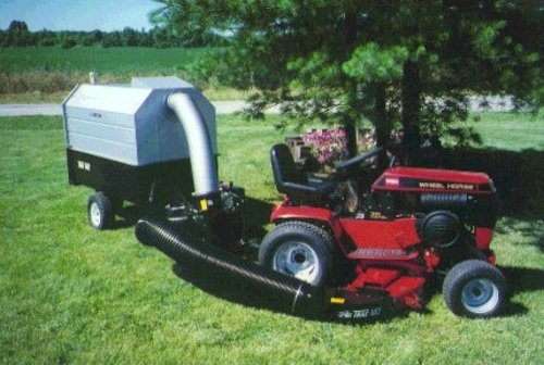 Details About Trac Vac 1080 Lawn Tractor Mower Bagger Vacuum Pull Behind 11 Hp Briggs Engine