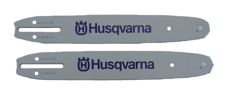 "Three Husqvarna 14/"" Chainsaw Bars 52DL .043 Gauge 505035101"