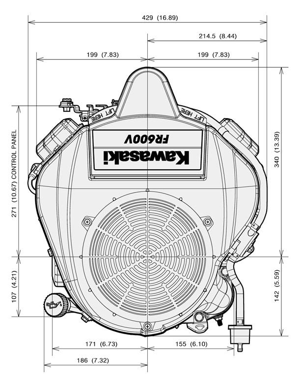 kawasaki 18 hp replacement engine vertical 603cc 32 4 max