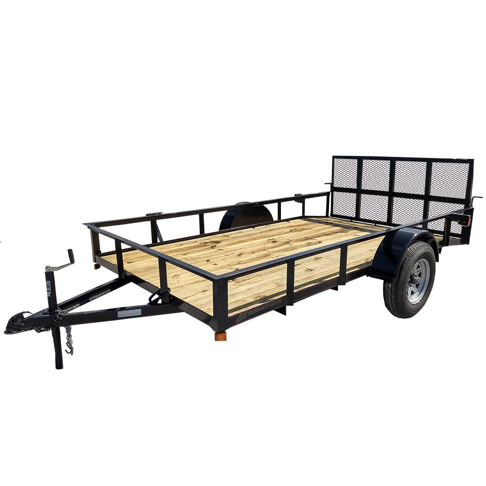 Utility Trailer 6 4 X12 Reinforced Dovetail Gate Mower Sle Equipment