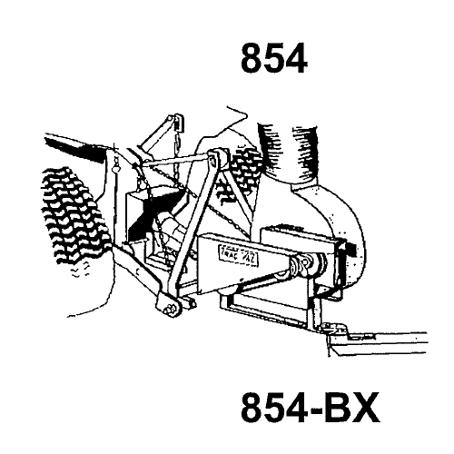 Trac Vac Model 854 Bx Lawn Vacuum 3 Point Hitch Pto