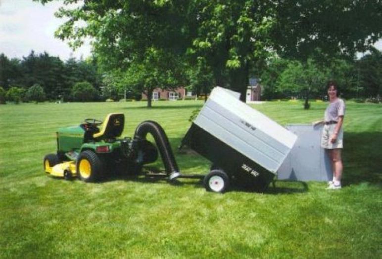 Trac Vac 860 Lawn Mower Bagger Vacuum 3 Point Hitch 8 Hp