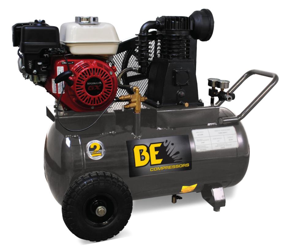 Be ac6520hb 20 gallon wheeled gas air compressor 196cc honda for Honda air compressor motor parts