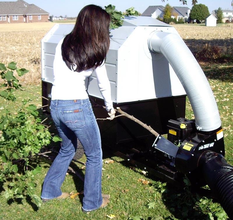 Trac Vac Model Cv865 Chipper Debris Vacuum 8 Hp Briggs