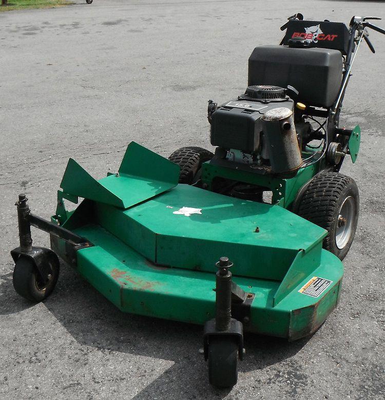 Used 48 bobcat walk behind 15hp kawasaki engine zero turn for Used lawn mower motors
