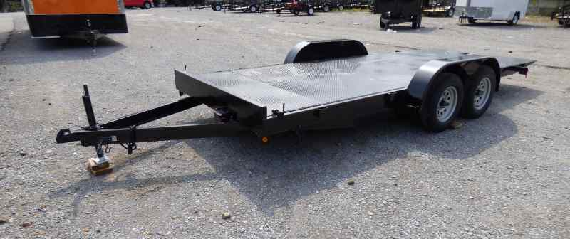 Utility Trailer 7 X18 Flat Tilt Deck Bed Steel Floor Car