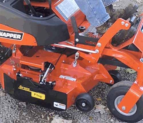 Kubota Zero Turn Mulching Kit For : Grassflap zero turn lawn mower discharge chute blocker