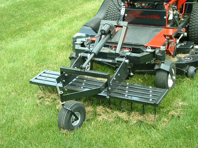 Trac Vac 330 Dethatcher 48 Quot Tow Behind Zero Turn Mower