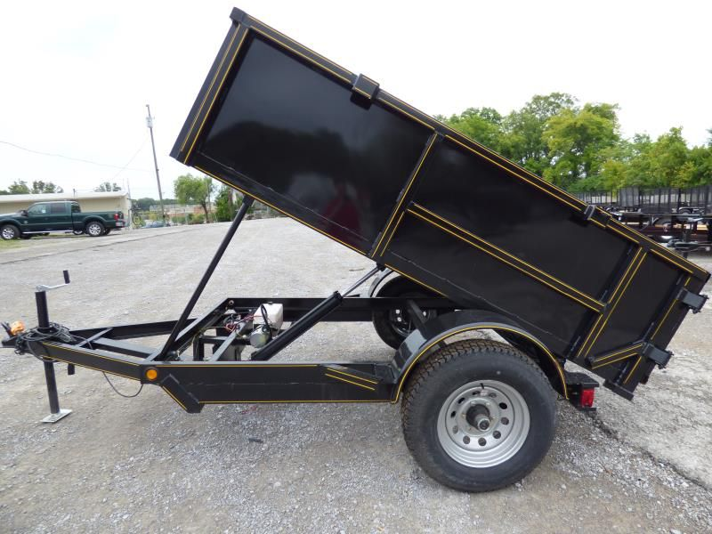 Hydraulic Dump Trailer 5x8 With Brakes 24 Quot Sides Ebay