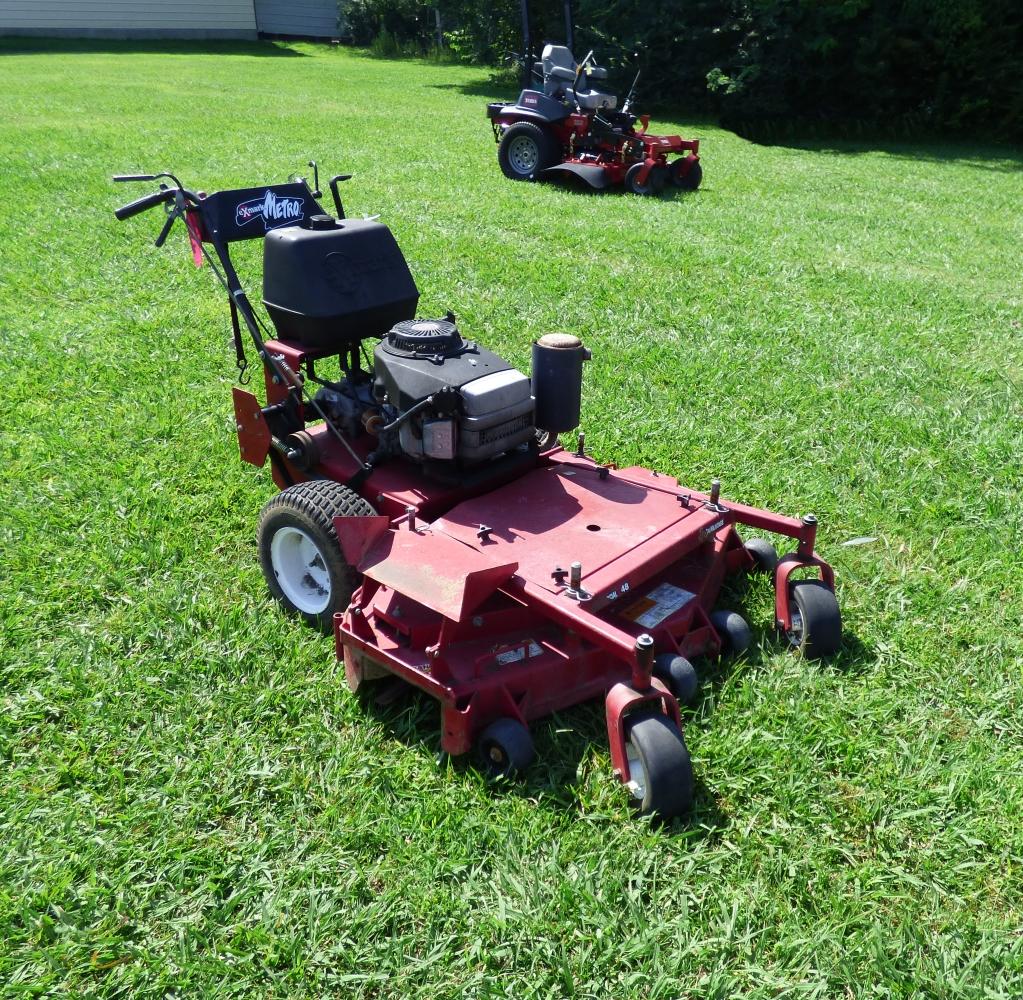 Used exmark metro 48 walk behind lawn mower 17 hp engine for Used lawn mower motors