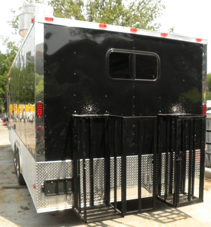 Concession Trailers 8 5 X24 Black Event Food Vending