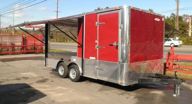 Concession Trailer 8 5 X 18 Red Food Event Catering