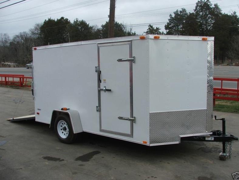 Lawn Mower Utility Trailer : Enclosed trailer x lawn mower utility ramp v