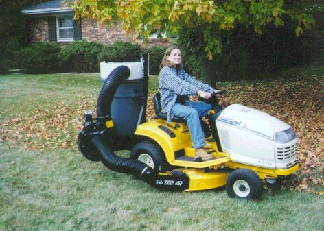 Trac Vac 462 Lawn Mower Bagger Vacuum Pull Behind 6 5 Hp